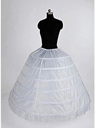 Women Nylon/Tulle Netting Floor-length 1 Tiers Petticoats
