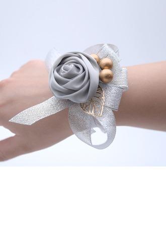 Hand-tied Satin Wrist Corsage -