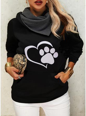Imprimé Animal Manches Longues Sweat-shirt