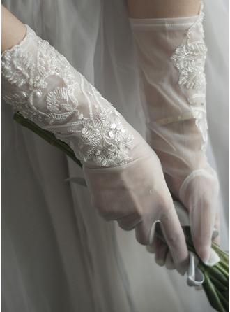 Tule/Kant Wrist Lengte Bruids Handschoenen
