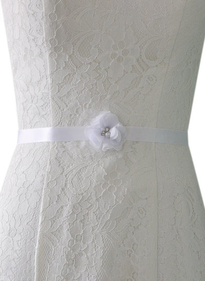 Elegant/Beautiful Satin Sash With Rhinestones