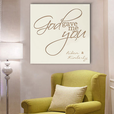 Groom Gifts - Personalized Elegant Romantic Canvas Oil Painting