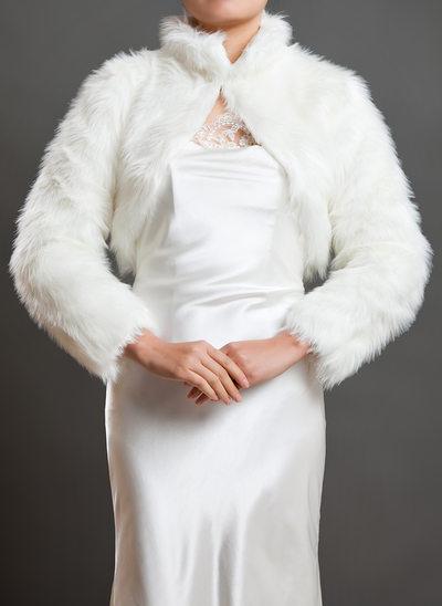 Lange Mouw Faux Fur huwelijk Wrap
