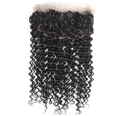 360 Frontal 4A Non remy Deep Human Hair Closure (Sold in a single piece) 80g