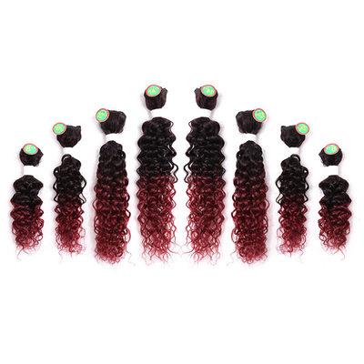 Lockig Synthetisches Haar Geflecht aus Menschenhaar 8PCS 100g