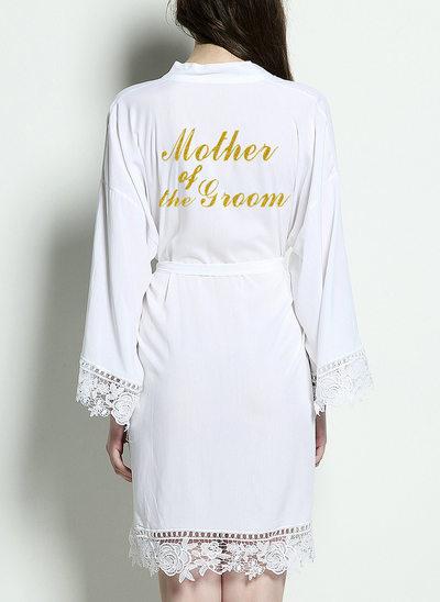 la mariée Demoiselle d'honneur Coton Satin et robes en dentelle