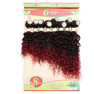 4A Non remy Curly Human Hair Human Hair Weave 8pcs