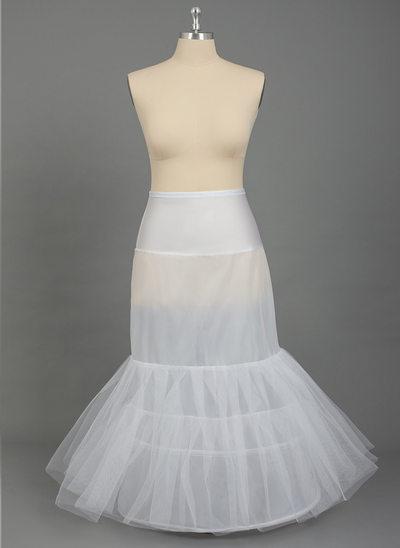 Women Nylon/Tulle Netting Floor-length 2 Tiers PLUS SIZE Petticoats