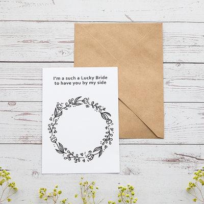 Družička Dárky - Klasický Elegantní papír Svatební denní karta