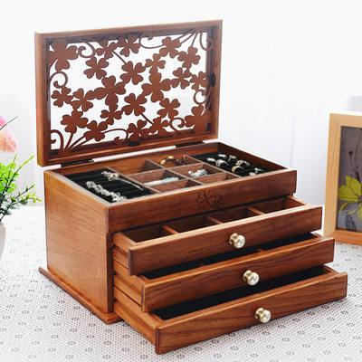 Cadeaux De Mariée - Style Vintage En Bois Boîte à bijoux