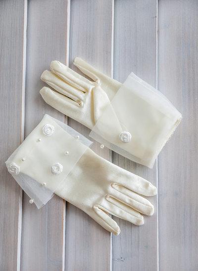 Elastic Satin Flower Girl Gloves