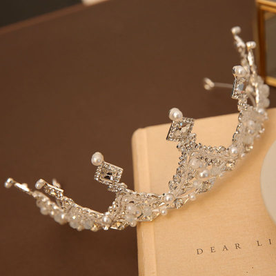 mit Faux-Perlen/Strasssteine Tiaras (Sold in a single piece)