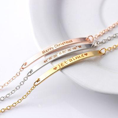 Cadeaux De Demoiselle D'honneur - Personnalisé Beau Alliage Bracelet