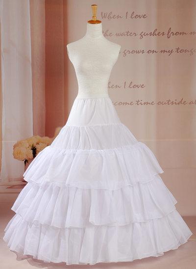 Women Tulle Netting Floor-length 3 Tiers Petticoats