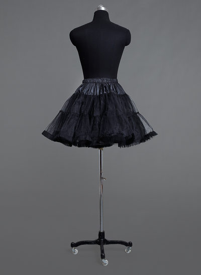 Women Tulle Netting Short-length 2 Tiers Petticoats
