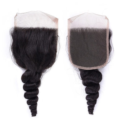 "4""*4"" 4A Non remy Loose Human Hair Closure (Sold in a single piece) 30g"
