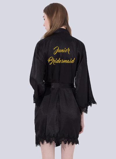 Spets brudtärna Glitter Print Robes