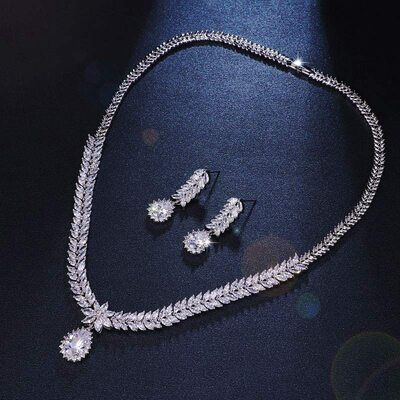 Ladies' Nice Alloy/Zircon Cubic Zirconia Jewelry Sets For Bride/For Bridesmaid