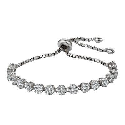 Anti-oxidatie Schakelketting Bruidsmeisje armbanden Bolo armbanden met Kubieke Zirkonia -