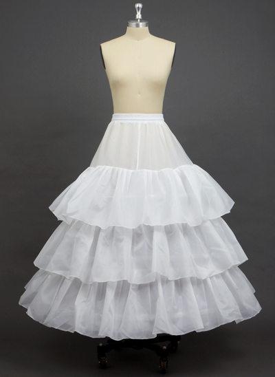 Women Polyester Floor-length 3 Tiers Petticoats