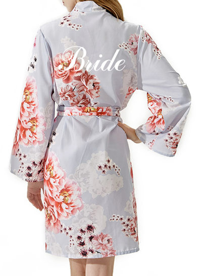 Personalized Bride Bridesmaid Cotton With Short Personalized Robes EmbroideredRobes