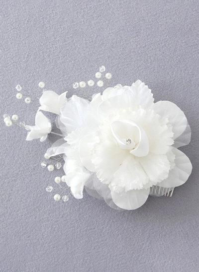 mit Blume Blumen-Stirnband
