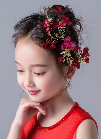Alloy With Flower Hairpins