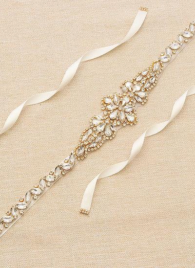 Elegante/Maravilloso/Exquisito Satén Fajas con Cuentas/Diamantes de imitación