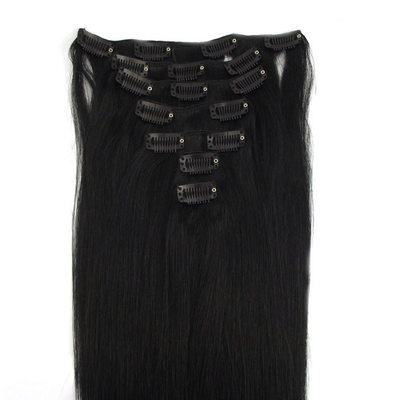 5A Virgin/remy Straight Human Hair Clip in Hair Extensions 7pcs 120g