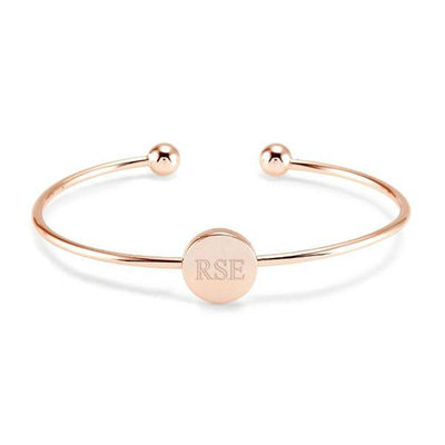 Custom Cuff Engraved Bracelets - Valentines Gifts For Her