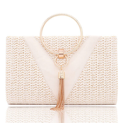 Fashionable/Pretty Linen Top Handle Bags/Evening Bags