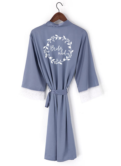 Personalized Lace Bride Bridesmaid Mom Junior Bridesmaid Lace Robes Embroidered Robes