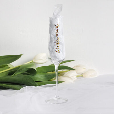 Bridesmaid Gifts - Eye-catching Glass Champagne Flute