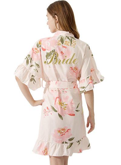 Baumwolle mit Kurz Personalisierte Roben Kimono-Roben