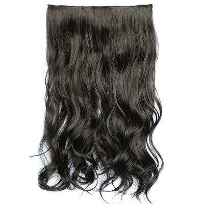 Pelo sintético Extensiones de cabello con clip (Vendido en una sola pieza) 130g