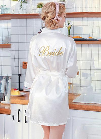 Polyester Bruid Geborduurde gewaden