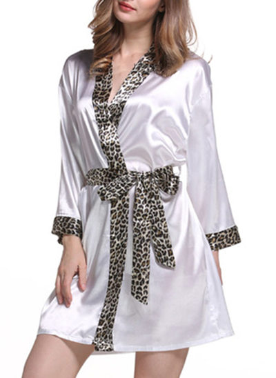 Bride Bridesmaid Polyester With Short Satin Robes
