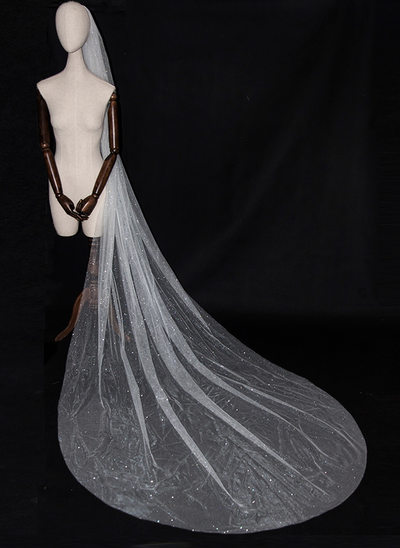 1 couche Bord de coupe Voiles de mariée chappelle