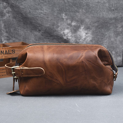 Groom Gaver - Vintage Stil Lær Dopp Kit Bag