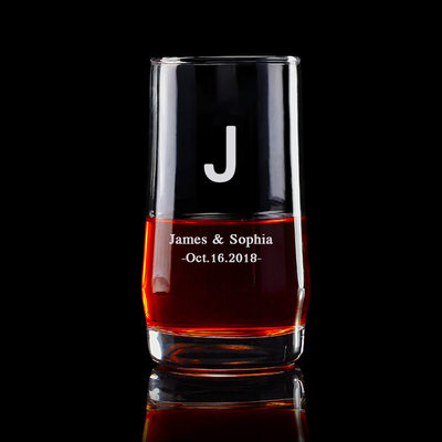 Groom Gifts - Personalized Elegant Glass Whisky Glass
