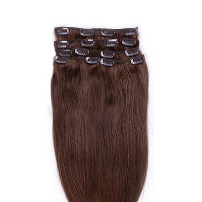4A Non remy Straight Human Hair Clip in Hair Extensions 8pcs 90g