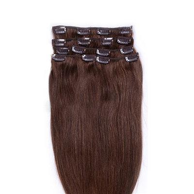 4A Non remy Прямо Человеческая прическа Волосы для наращивания с зажимами 8PCS 90 г