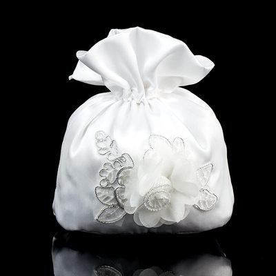 Pretty Satin/Lace Bridal Purse/Flower Girl Bags