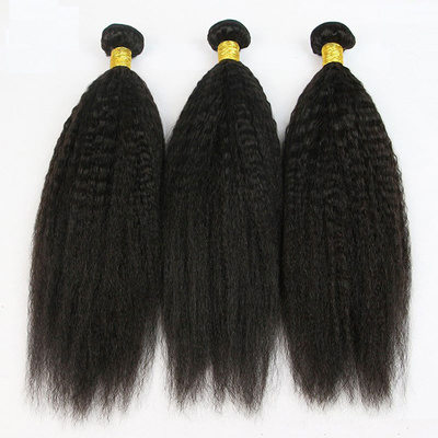 4A Non remy Kinky Straight Human Hair Human Hair Weave (Sold in a single piece)