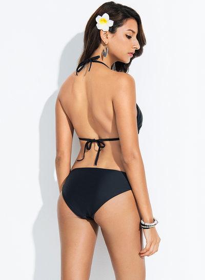 Seksowny Jednolity kolor Spandex Bikini Kostium kąpielowy