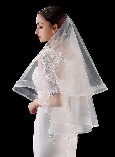 Uno capa Lápiz Yema del dedo velos de novia