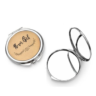 Bridesmaid Gifts - Personalized Classic Cute Eye-catching Stainless Steel Compact Mirror