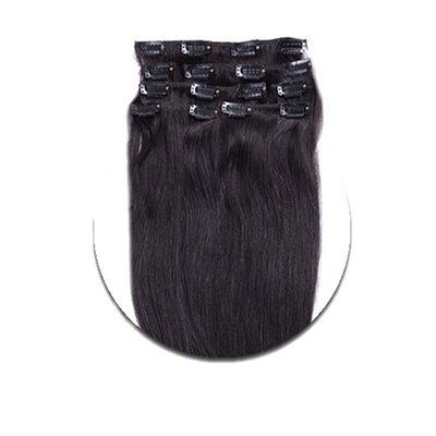 4A Non remy Прямо Человеческая прическа Волосы для наращивания с зажимами 8PCS 100г