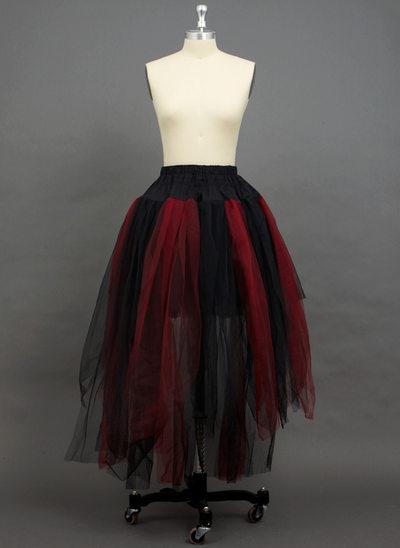 Women Tulle Netting Floor-length 2 Tiers Petticoats