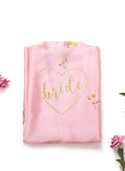 Individualisiert charmeuse Braut Brautjungfer Mama Junior Brautjungfer Blumenmäntel Glitter-Print-Roben